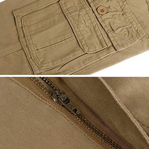 Printemps Pure Loisirs Moderne Hommes Pantalon Pocket Haidean Slim Long Randonnée Casual Noir Gratuit Voyage Sport Straight Couleur Automne Multi pPIxqH