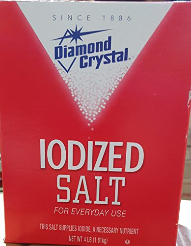 Diamond Crystal Table Iodized Salt, 4 Pound (Pack of 2) -