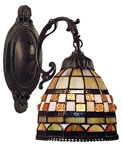 Jewelstone 1 Light (Jewelstone 1 Light Wall Sconce In Classic Bronze)