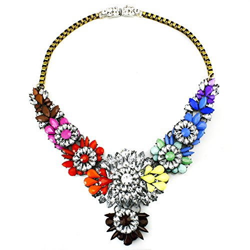 JewelrieShop Stunning Crystal Colorful Necklace product image