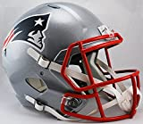 New England Patriots Speed Replica Football Helmet - Licensed NFL Memorabilia - New England Patriots Collectibles