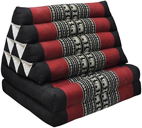 Details about  /Plaid Tri-angle Cotton kapok 100/%Traditional Floor Cushions 10 holes mattress