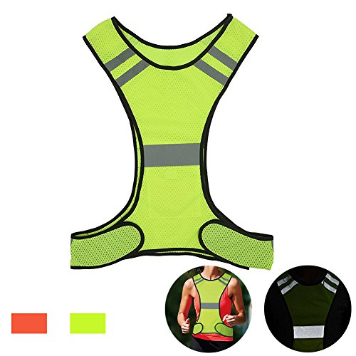 AUOON Reflective Night Running Vest with Adjustable Strap & Breathable