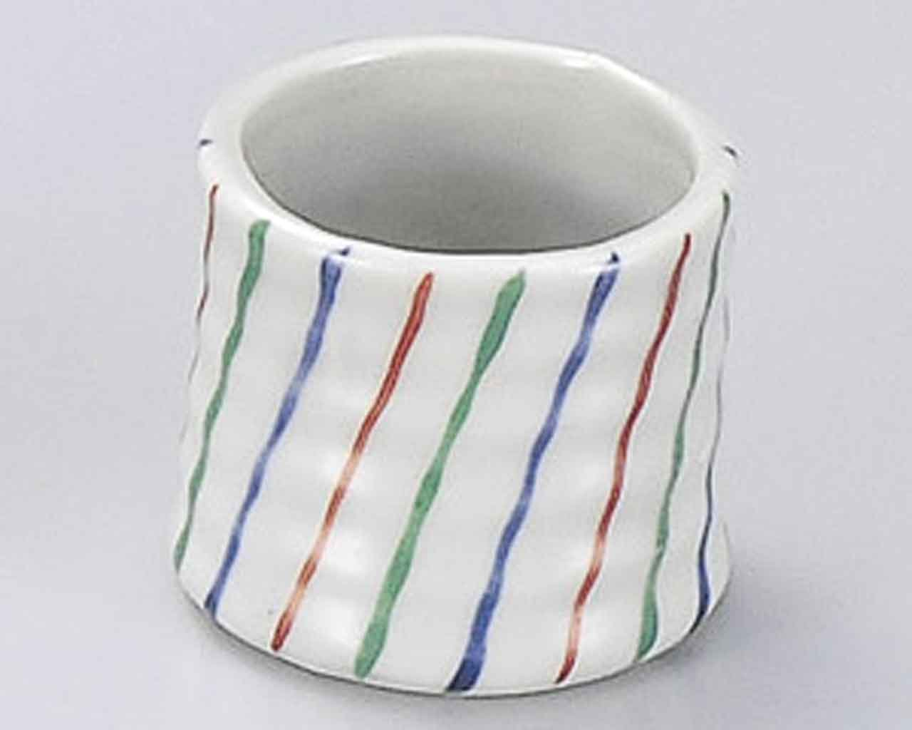 Tokusa 2inch Set of 5 Toothpick holders White porcelain Made in Japan