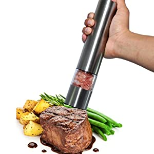 Pro Automatic Stainless Steel Salt or Pepper Adjustable Ceramic Mill Grinder
