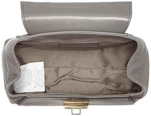 Trussardi Jeans 76B275, Borsa a mano Donna, Grigio, 17 cm