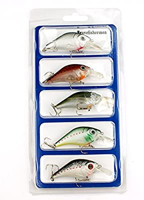 Bravefishermen Minnow Baits lot of 5 Fishing Lures