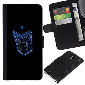 Stuss Case / Funda Carcasa PU de Cuero - Cabina de Policía - Samsung Galaxy S4 Mini i9190