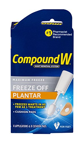 Compound W-Maximum Freeze-Freeze Off Plantar -8 Applications & 8 Cushion Pads Kit Safe, Fast & (Maximum Healthy Skin Kit)