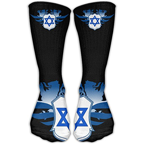 Lion Of Judah With Star Of David Israel Hebrew Novelty Sport Long Sock For Man's And Women's One Size - Shipping Usps Israel To