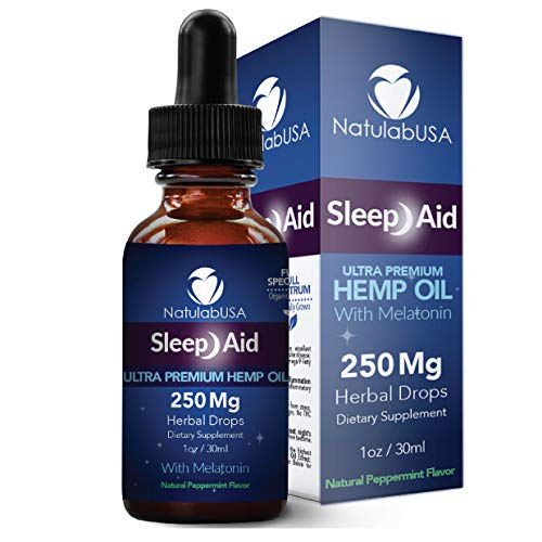 NatulabUSA - Sleep Aid Natural Sleep Aid - Ultra Hemp Oil - Pain Relief - Anxiety Relief - Stress Relief - Melatonin - 250 MG - 1oz