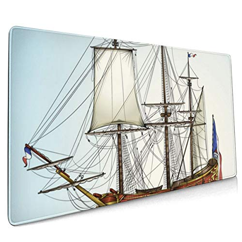 Large Gaming Mouse Pad Historic Ship Non-Slip Rubber Thicken 3 Mm Keyboard Mouse Mat Mousepad 15.7