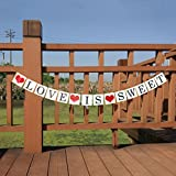 Love is Sweet Party Banner, Bachelorette Engagement Bridal Shower BannerParty Decorations