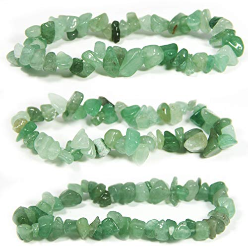Bravelets Green Aventurine Gemstone Stretch Bracelet. Inspirational or Get Well Soon Gifts for Women. Natural Healing Crystals. Green for Lymphoma, Lyme Disease, TBI, Mental Health Awareness and More