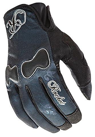 Joe Rocket Nation Womens Black Textile Motorcycle Gloves - Medium - Textile Motorcycle Gloves