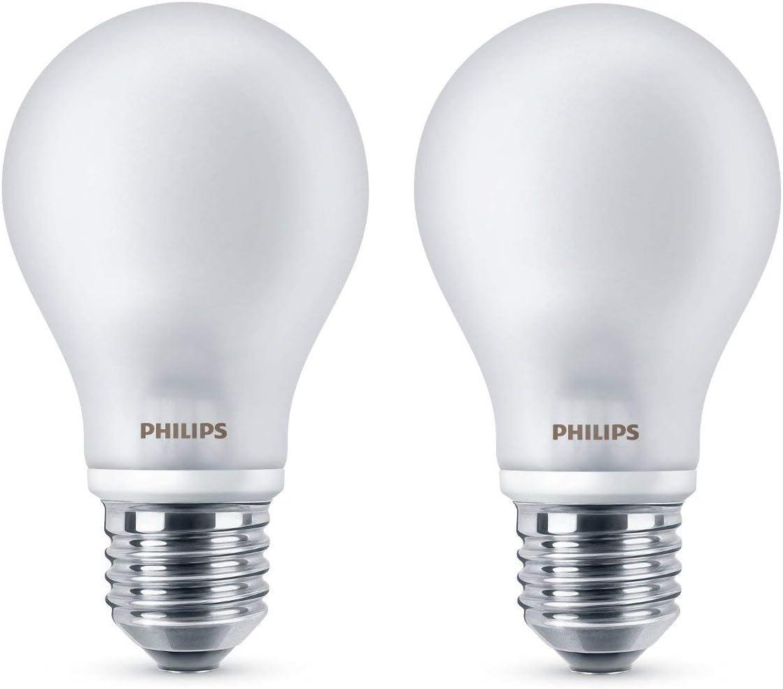 Philips Lighting Bombilla LEDclassic E27, 40 W, Cálida, Pack de 2, 2