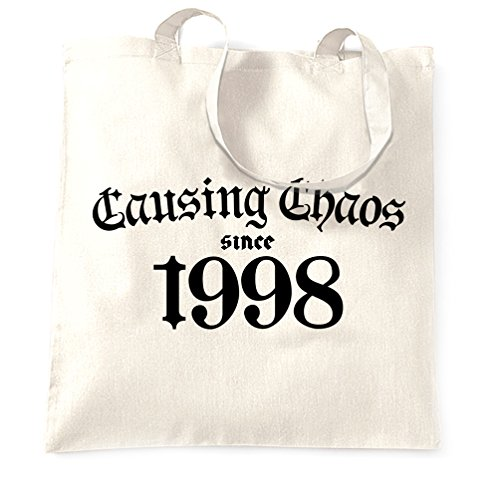 Shopping Chaos Tote 20th Since Bag Causing White 1998 Birthday P1qwEz