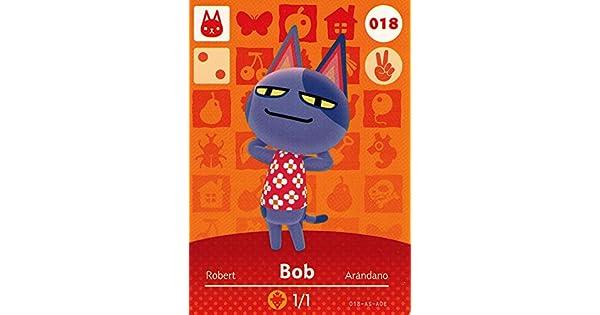 Amazon Com Animal Crossing Happy Home Designer Amiibo Card Bob