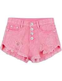 Amazon.com: Pink - Denim / Shorts: Clothing, Shoes & Jewelry