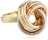 14k Gold Tri-Color Knot Ring, Size 7