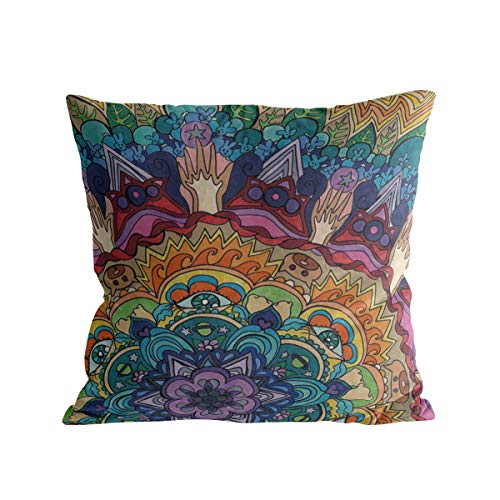 Caffling Velvet Soft Decorative Square Throw Pillow Covers Euro Shams Cushion Cases Pillowcases for Sofa Couch Chair Bedroom Car Back Seat, 26