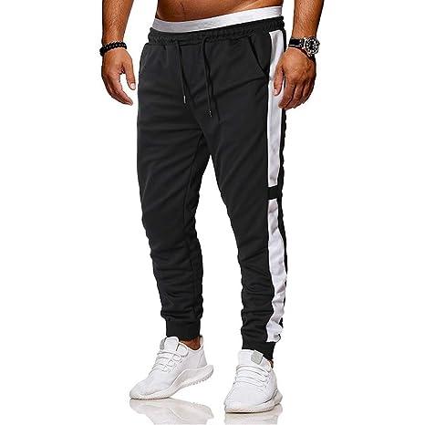 Pantalones de Chándal de Hombres Pantalones de Deporte Pantalones ...