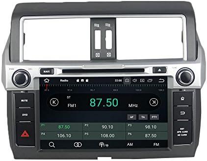 KUNFINE Android 9.0 8核自動車GPSナビゲーション マルチメディアプレーヤー 自動車音響 トヨタ TOYOTA PRADO 2014自動車ラジオハンドル制御WiFiブルースティスト