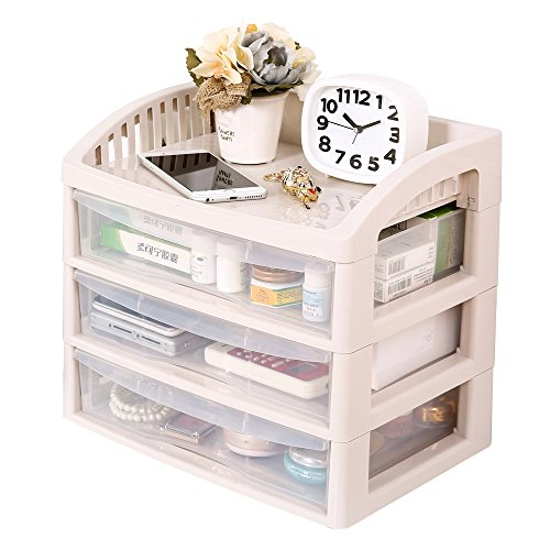 Stackable Tree - Impr3.Tree Wide 3 Drawer Storage File Box White Frame with Clear Organizer Rack (2 Drawer)