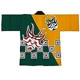Festival Hanten Happi Coat Japanese pattern Kabuki kumadori(6483)