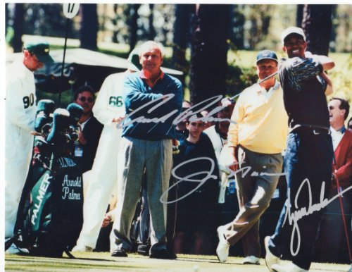 Jack Nicklaus & Arnold Palmer & Tiger Woods Golfing Legends 8 X 10 Reprint Photo - Beautiful ! (Photo Woods Tiger)