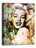 Van Eyck Marilyn Monroe Painting Prints on Canvas Art Picture Wall Art for Living Home Decoration(12x16 inch with Inner Frame,multi2)