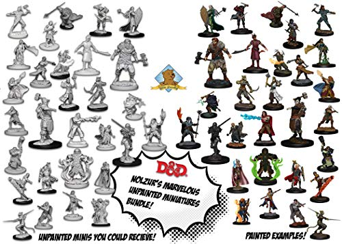 30 Random D&D Dungeons and Dragons Nolzur's Unpainted Player Character