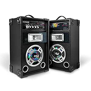 portable tower speaker system 600w high powered disco jam active passive pair. Black Bedroom Furniture Sets. Home Design Ideas