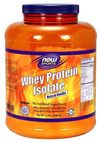 NOW Sports Nutrition, Whey Protein Isolate Powder, Creamy Vanilla, 5-Pound