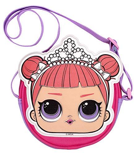 L.O.L Surprise! LOL Dolls Bolso para niñas | Bolso bandolera con purpurina | Bolso de hombro a la moda | Kitty Queen…