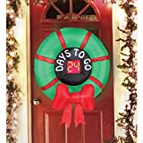 Christmas Inflatable Countdown To Christmas Wreath Airblown Hanging Decoration