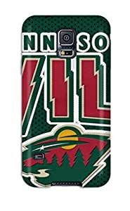 Hot CfSPDGH1420ZInMM Minnesota Wild Hockey Nhl (16) Tpu Case Cover Compatible With Galaxy S5 by icecream design