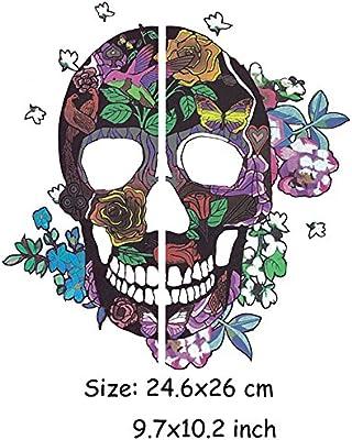 HY7 DIY Decoración Ropa Skeleton Pegatinas Parche DIY Camisa Sudadera con capucha y vaquero transferencia térmica parches para ropa: Amazon.es: Juguetes y juegos