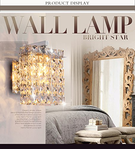 Jorunhe Modern Crystal LED Wall Lights Aisle/Bedside/Bar lights Wall Sconce by Jorunhe (Image #4)