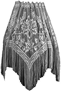 product image for Heritage Lace Gala 60-Inch Wide by 22-Inch Drop Lampshade Topper, Silver Sage