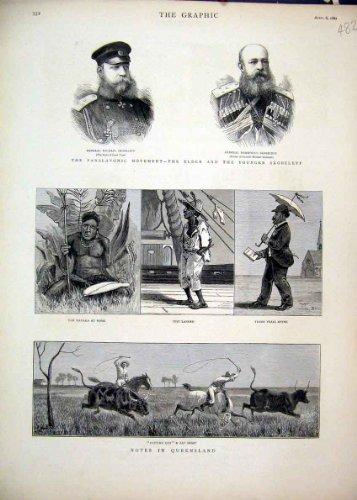 Vieh-PferdePeitsche 1882 Panslavonic Skobeleff Australien