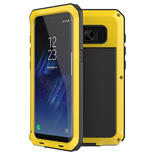 Galaxy S8 Plus case,Tomplus Extreme Hybrid Armor Alloy Aluminum Metal Bumper Soft Rubber Military Heavy Duty Shockproof Hard Case For Samsung Galaxy S8 plus (Yellow)