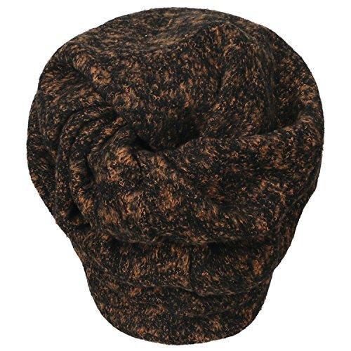 Neck Orange Cap Fur Short Snood Beanie ililily Faux Hat Soft Color Skull Melange qSnwv07