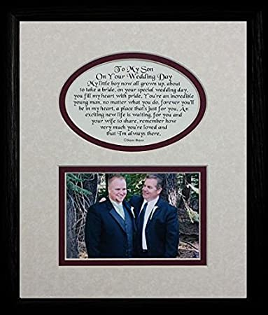 8x10 TO MY SON ON YOUR WEDDING DAY Picture Poetry Photo BLACK Gift Frame