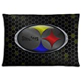 """16x24 16""""x24"""" 40x60cm cushion pillow protector case Cotton * Polyester Elegant no-shift Pittsburgh Steelers"""