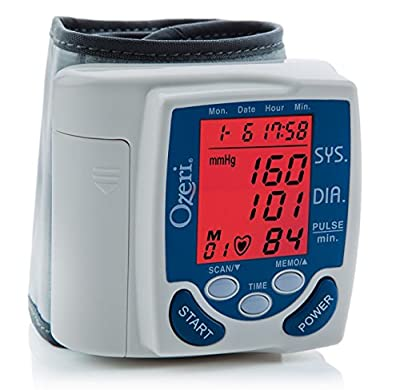 Ozeri BP2M CardioTech Premium Series Digital Blood Pressure Monitor with Hypertension Color Alert Technology-New Value Pack Size of 2