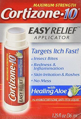 Cortizone 10 Hydrocortisone Anti-Itch Liquid Easy Relief Applicator-1.25, oz. (Pack of 3)