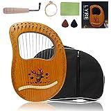 Lyre Harp 16 Strings, Metal Strings Wooden Lye