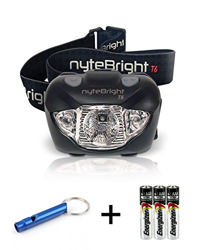 LED Headlamp Flashlight with Red Light  Brightest Headlight for Camping Hiking Running Backpacking Hunting Walking Reading - Waterproof Headlamps - Best Work Head Lamp Light with FREE Batteries!
