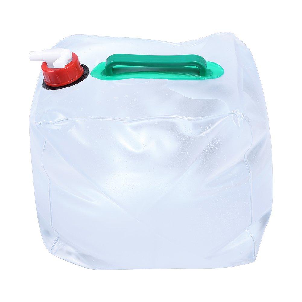 Alomejor 10L//20L Portador de Agua de Camping Plegable Dep/ósito de Agua Grado Alimentario PE Sin BPA No T/óxico Bolsa de Almacenamiento de Agua para Camping Senderismo Caza